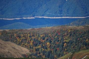 晩秋の有峰湖 。  こんなのが見れる筈だったんですよ、ホントは・・・