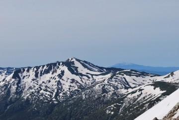 黒部五郎岳の右に御嶽山が見えてます。