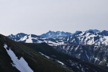 雲の平、鷲羽、ワリモ、三俣・・・先日の雨で雪解けが進みました。