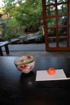富山市茶室円庵のお抹茶。これが又、安くて、美味しいんです。