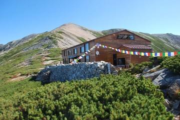 薬師岳山荘 10月11日(日)泊りまで。
