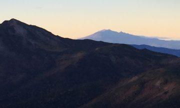 2年前の噴火が信じられない様な、ドーンと、立派な容姿の、独立峰、御嶽山‼️