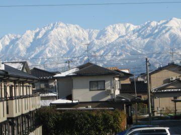 窓から見える冬の景色がこれ。 絶品成り!