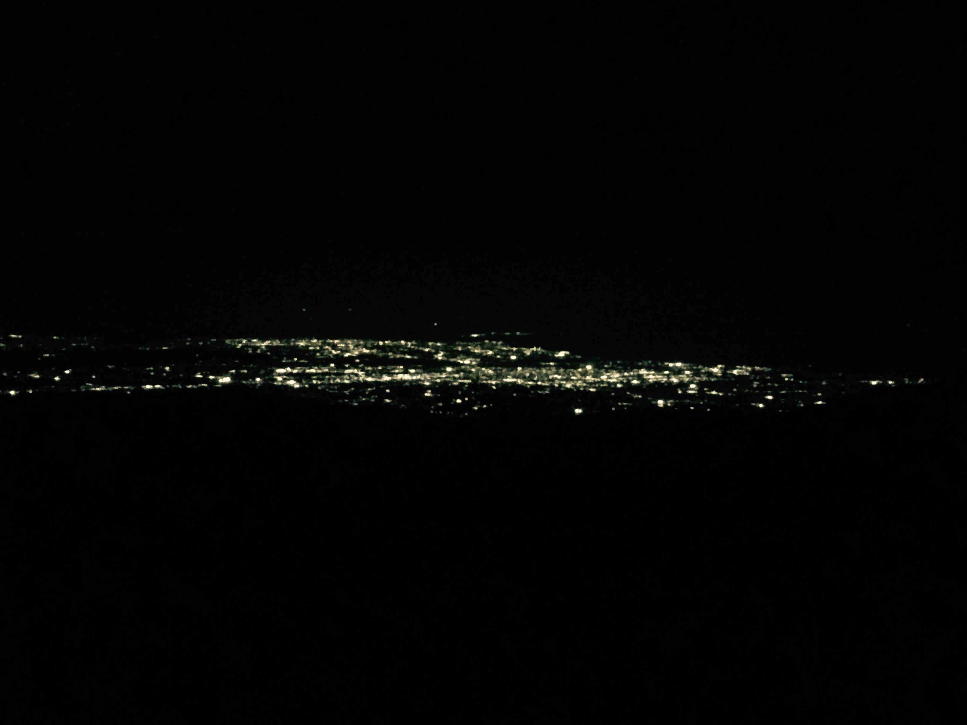 クリアーな富山平野の夜景